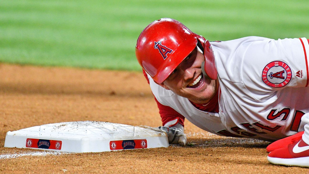 Los Angeles Angels' Mike Trout is on pace for the greatest season in MLB history