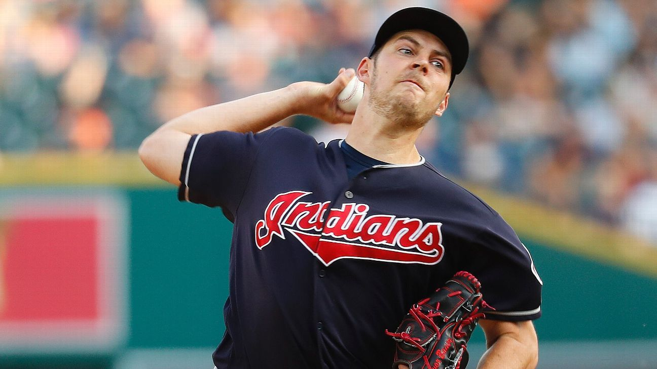 Indians' Trevor Bauer throws to hitters for first time since injury