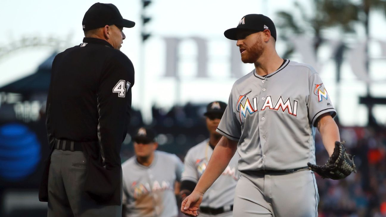 Dan Straily of Miami Marlins suspended 5 games for throwing at Buster Posey