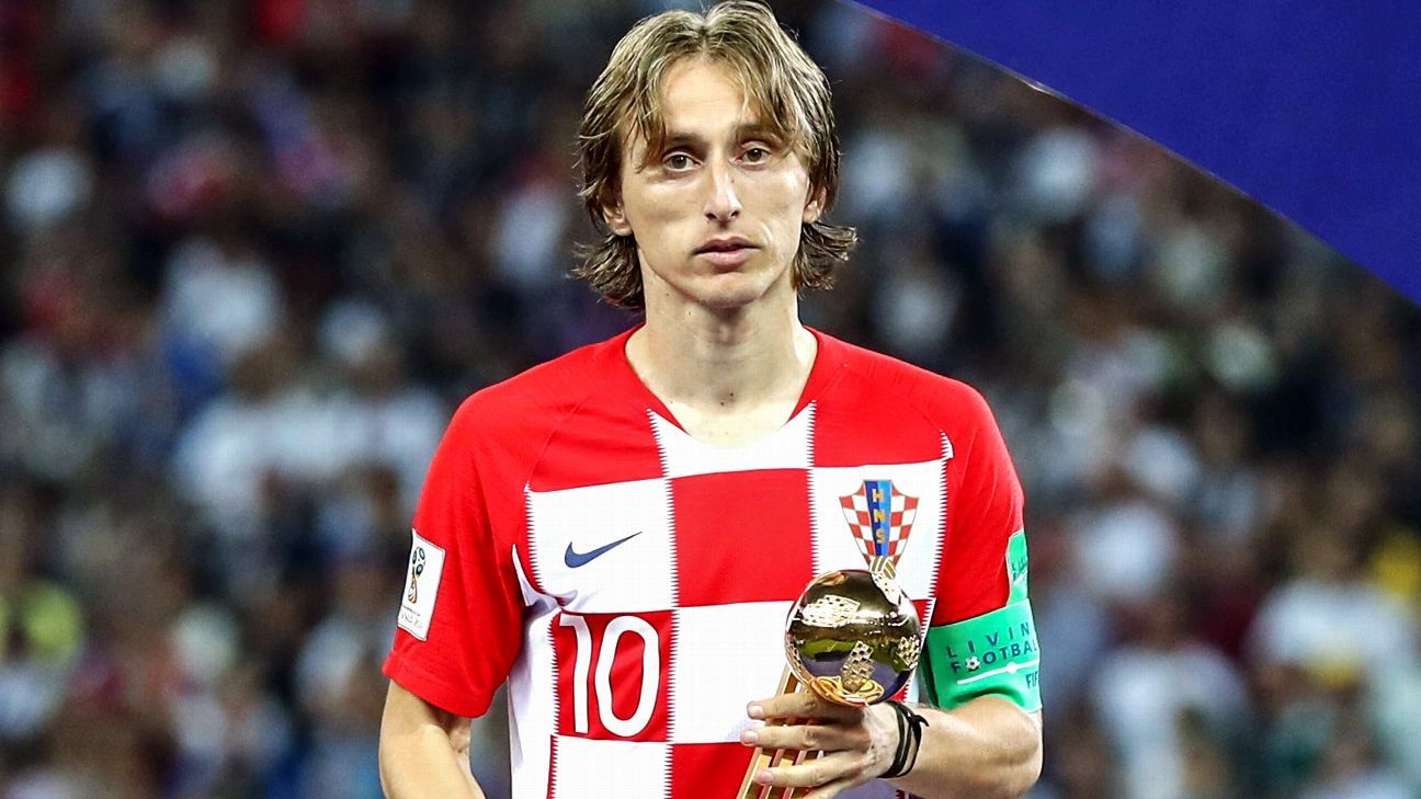 Luka Modric wins World Cup Golden Ball as Mbappe and Courtois also honoured