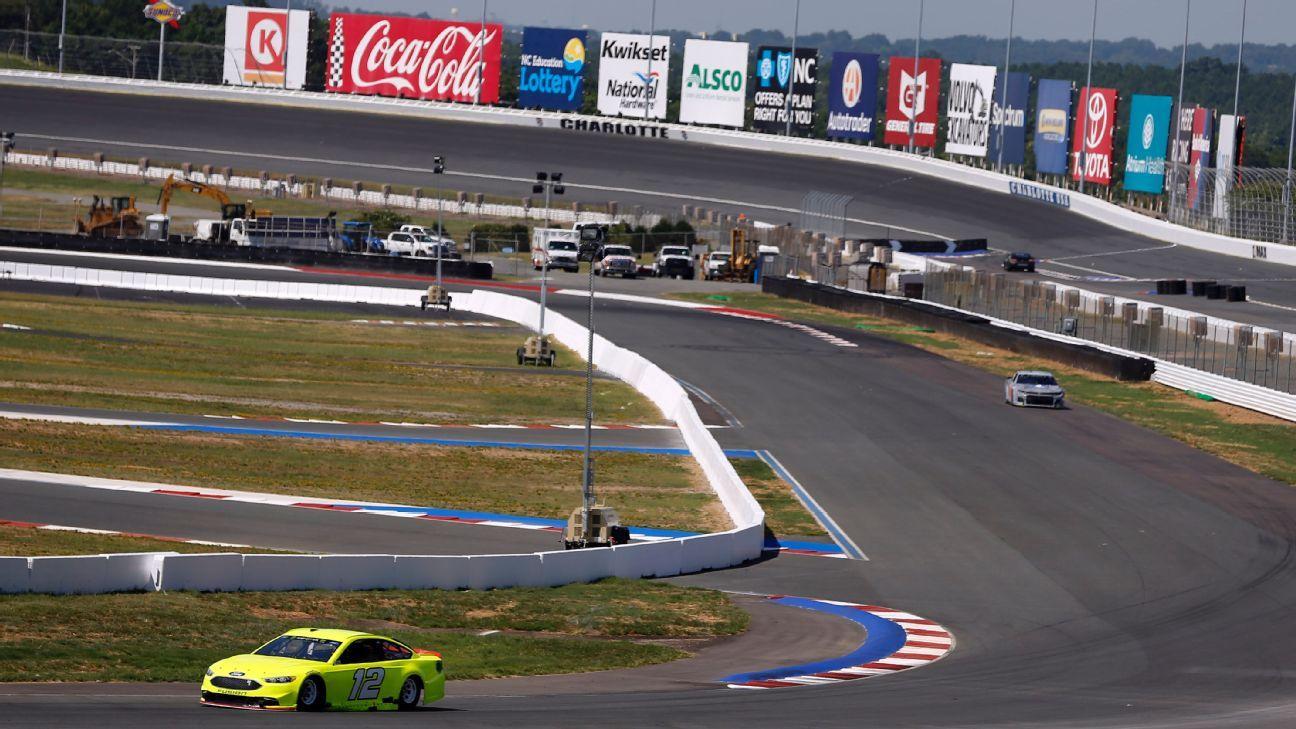 Teams wrap up testing on charlotte motor speedway 39 s roval for Charlotte motor speedway hotel packages