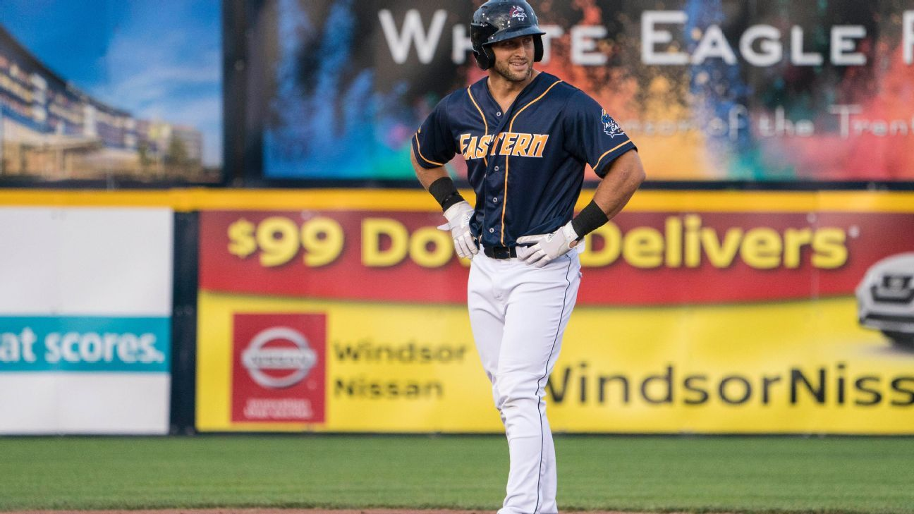 Binghamton outfielder Tim Tebow placed on DL with right hand injury