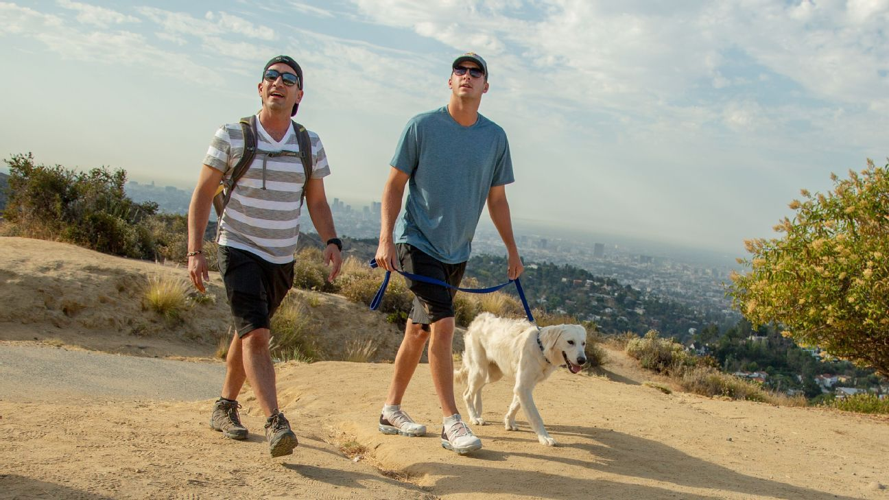We go hiking with the Rams QB as he talks Taylor Swift, finding love in LA and why his team is the NFL's hottest destination.