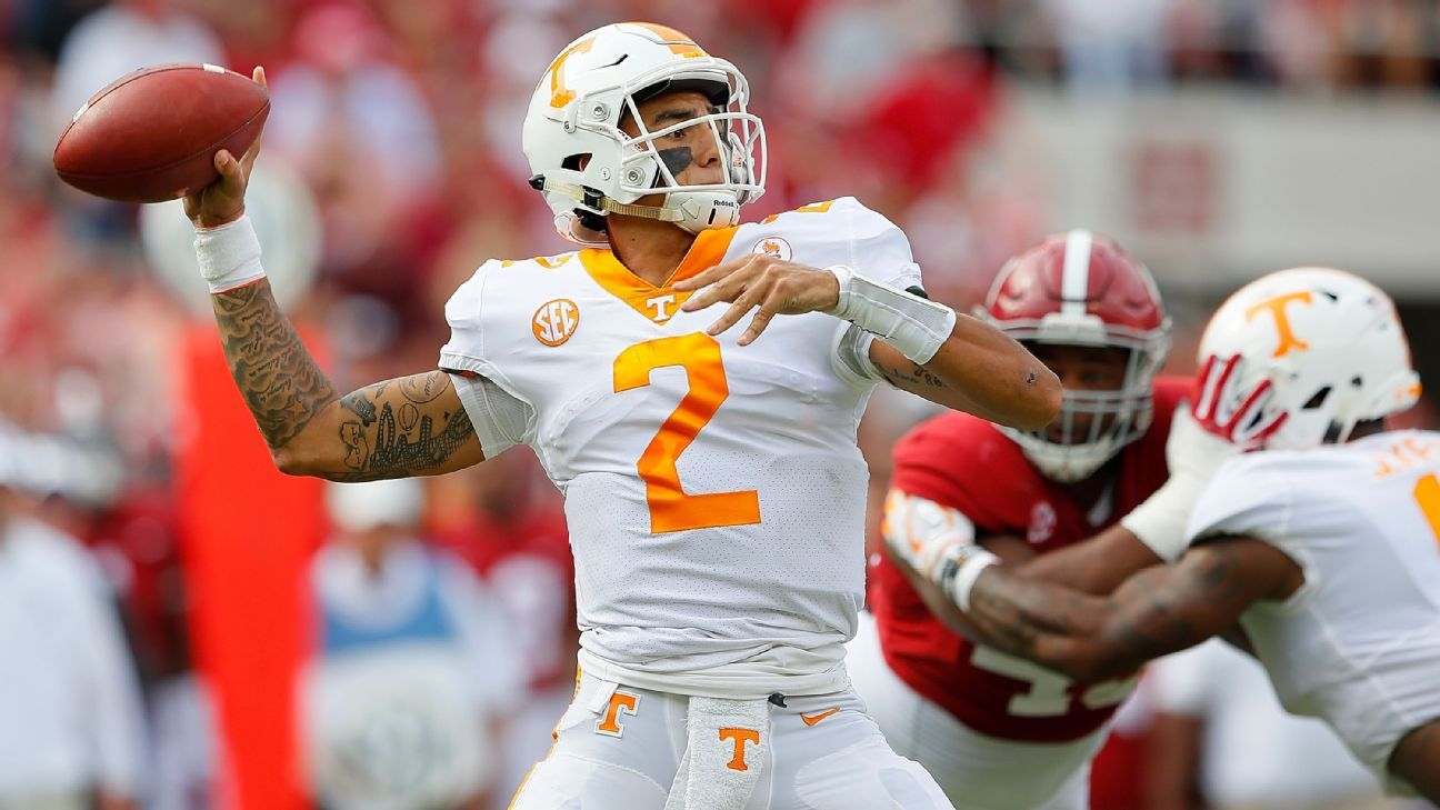 The Tennessee Volunteers have four quarterbacks -- Jarrett Guarantano, Keller Chryst, Will McBride and JT Shrout -- in the mix for the starting spot, but coach Jeremy Pruitt said Sunday that a front-runner has yet to emerge.