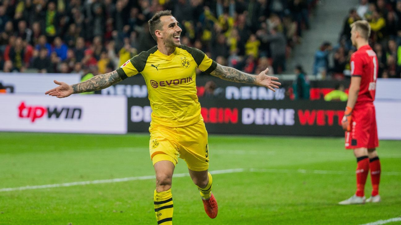 paco alcacer 39 s introduction changes the game as dortmund earn comeback win. Black Bedroom Furniture Sets. Home Design Ideas