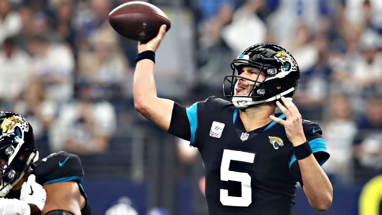 Despite public calls for them to acquire a quarterback and questions about whether they actually will, the Jaguars are not considering a trade for a signal-caller, sources familiar with the team's thinking told ESPN.