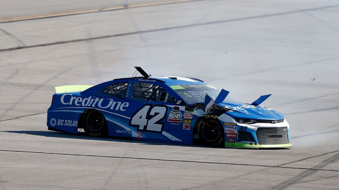 Larson incurs costly 10-point penalty for repair