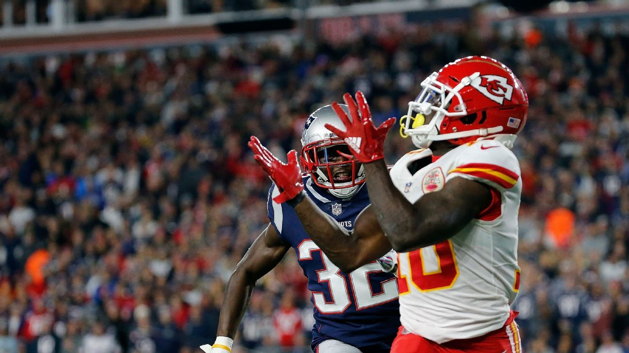Pats ban fan who threw beer on Chiefs' Hill