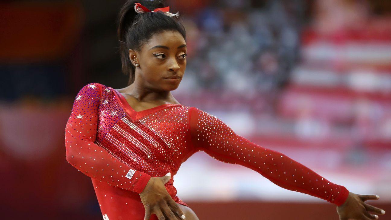 Biles leads U.S. team to world gymnastics gold
