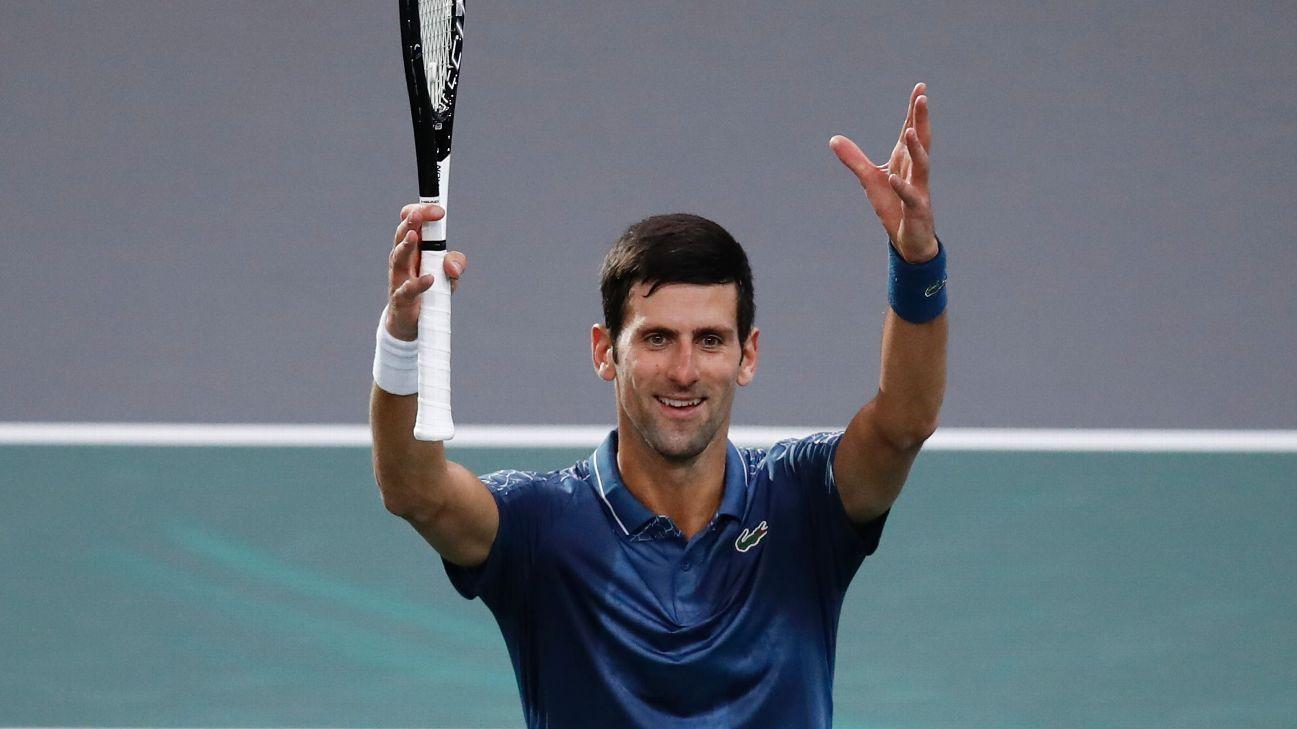 Novak Djokovic reaches Paris Masters quarterfinals; Marin Cilic wins