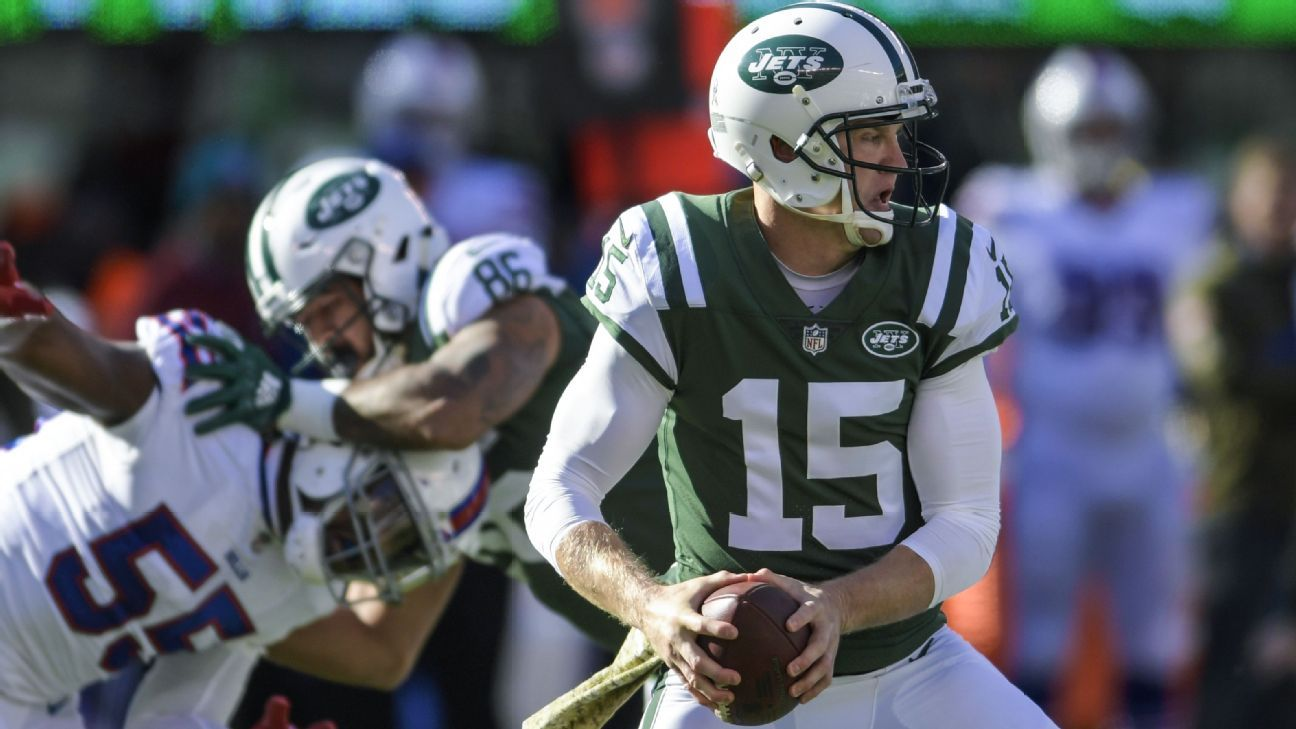 Josh McCown will start his third straight game for the Jets, sources told ESPN's Rich Cimini, as rookie quarterback Sam Darnold continues to recover from a foot injury.