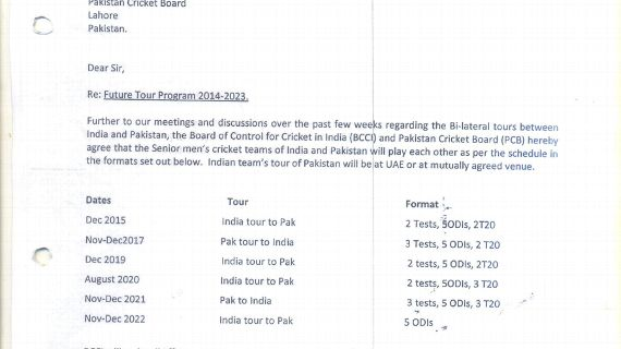 The Bcci Letter To Pcb Regarding Tours Leaked Is This Even A Mou