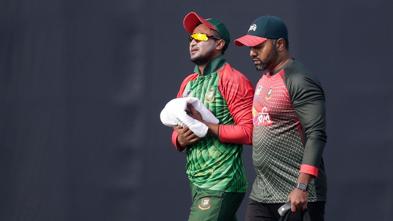 Hand injury rules Shakib out of first Sri Lanka Test - ESPN