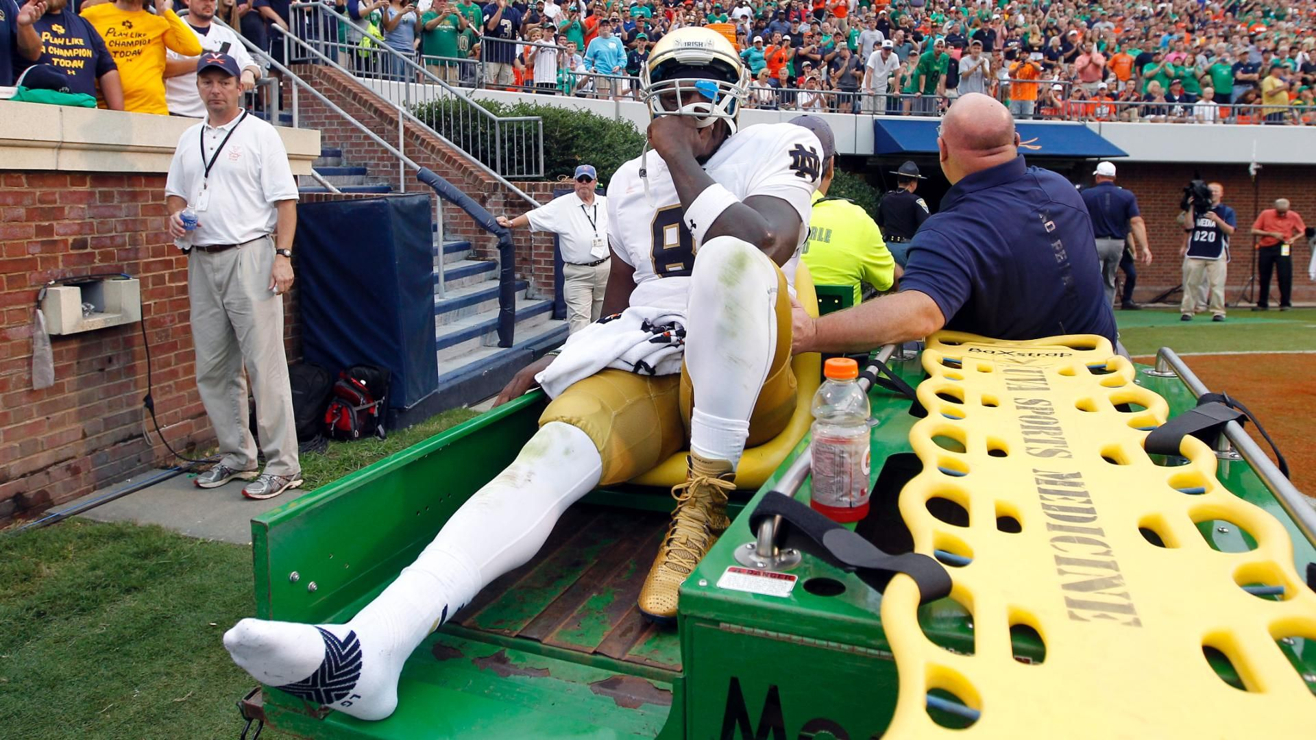 biggest college football player notre dame score live