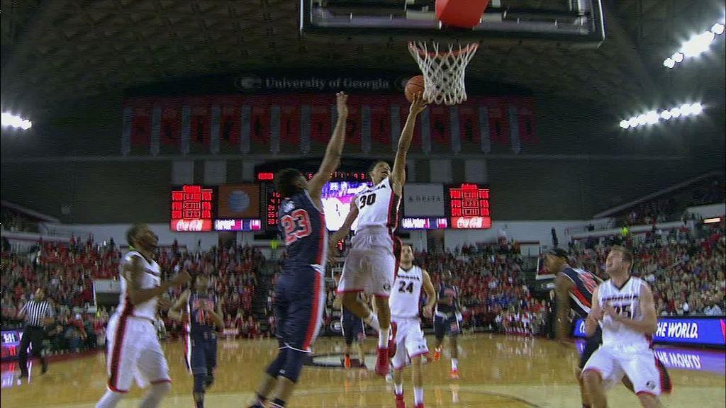 Georgia overtakes short-handed Auburn, 65-55