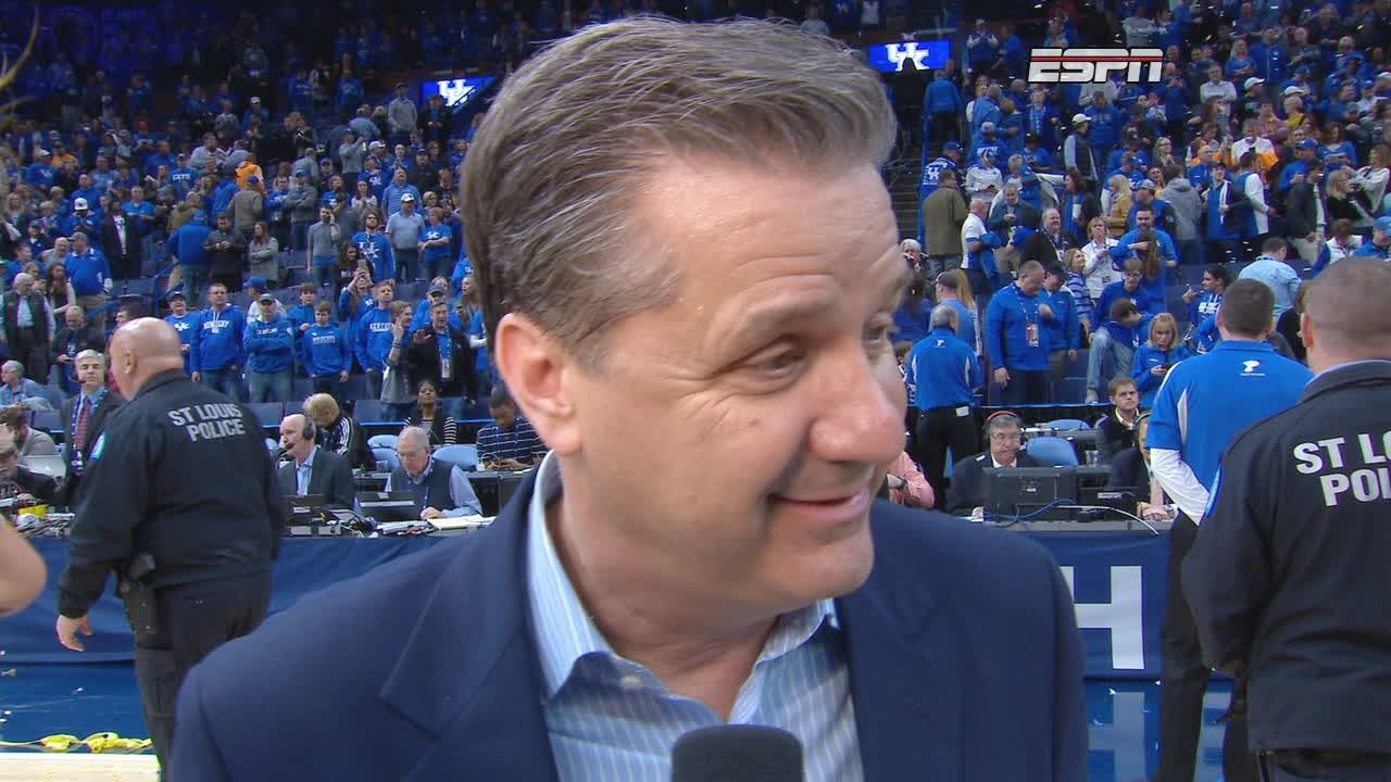 Calipari says Cats had to come together to win tourney