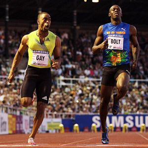 tyson gay 100 meter world record