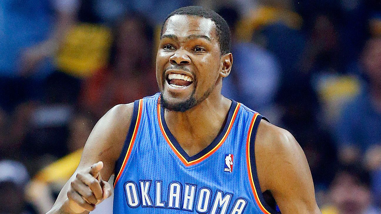 Kevin Durant of Oklahoma City Thunder wins MVP award for first time
