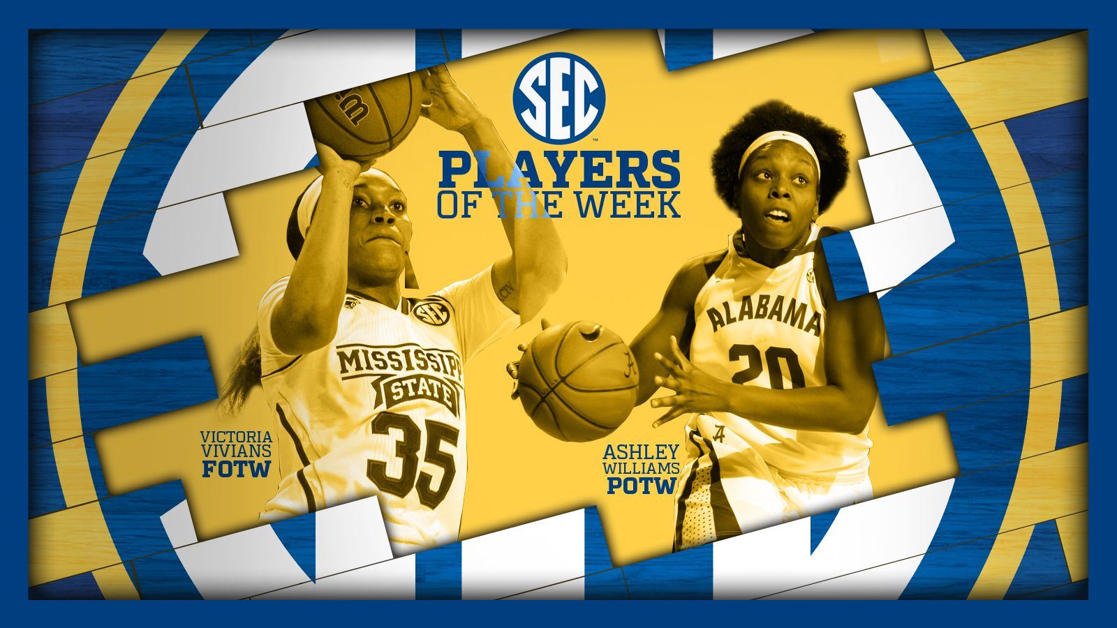 Williams, Vivians earn Player of the Week honors