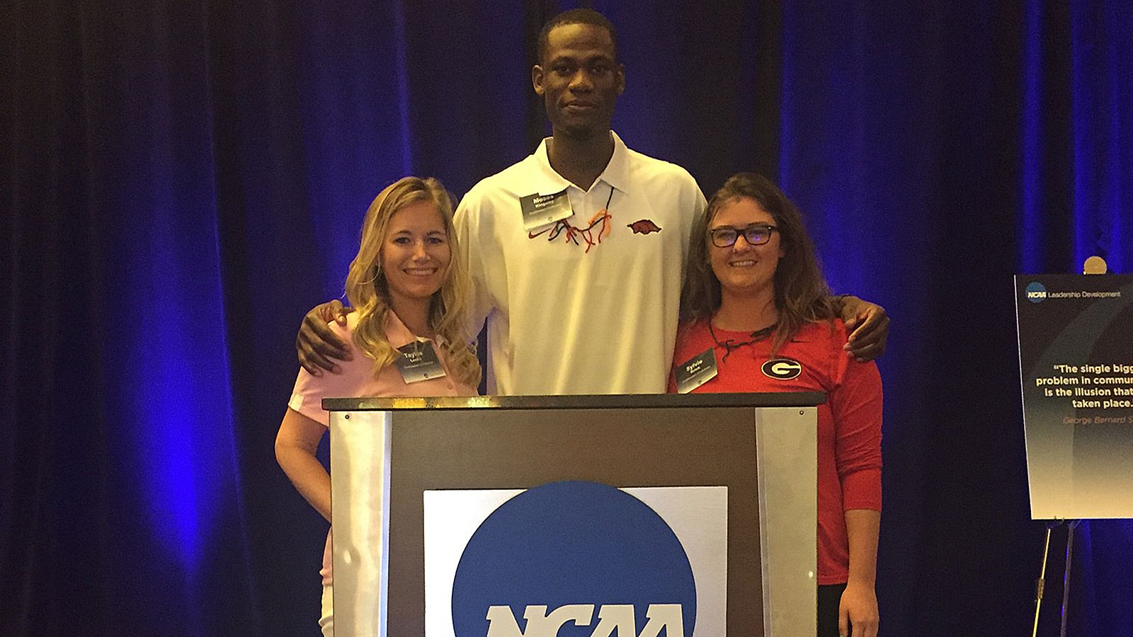 Kingsley, Brick participate in NCAA student-athlete forum