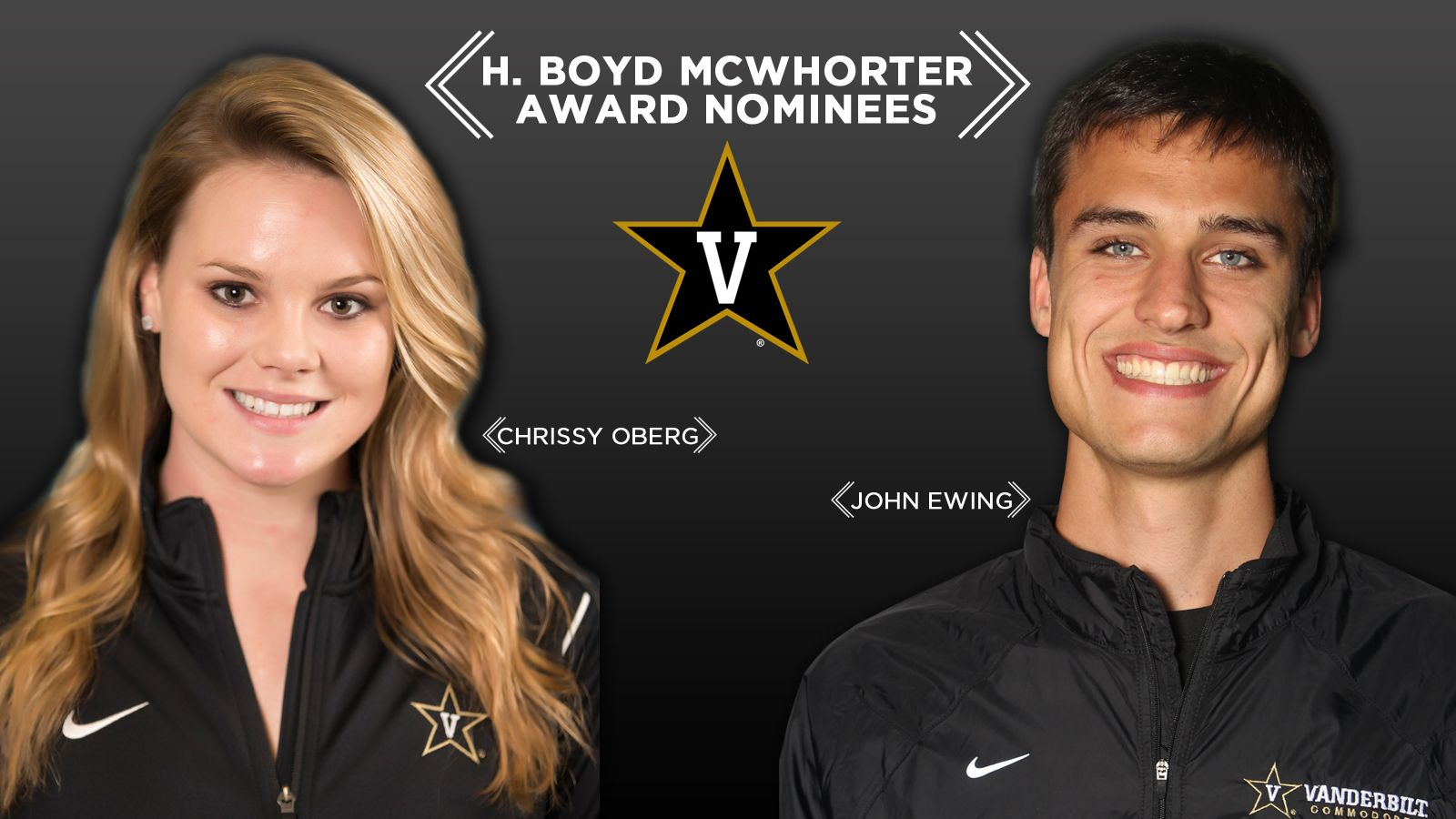Vandy's Ewing, Oberg nominated for McWhorter Award