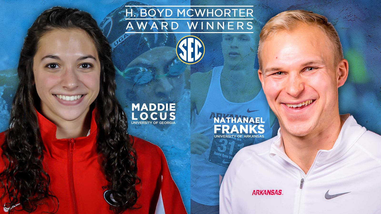 Franks, Locus named McWhorter Award winners