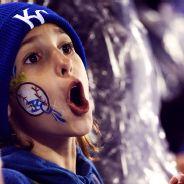 True blue fans