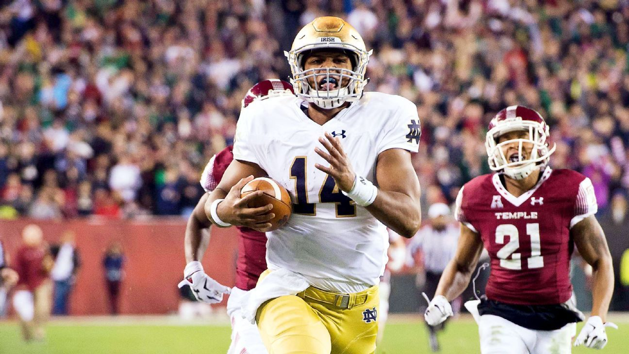score of notre dame football game espn college football blog