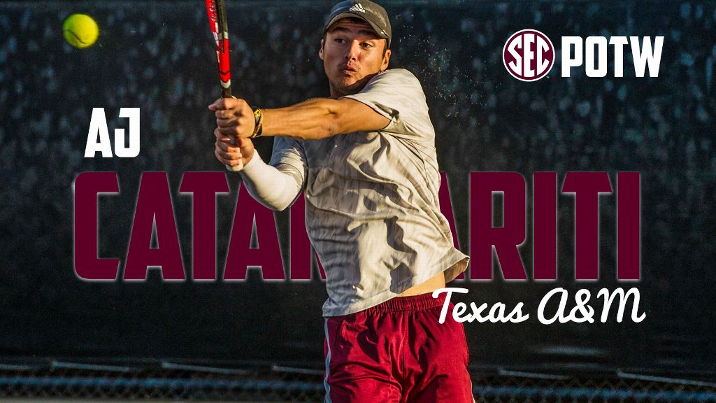 Catanzariti, Osama earn Men's Tennis honors