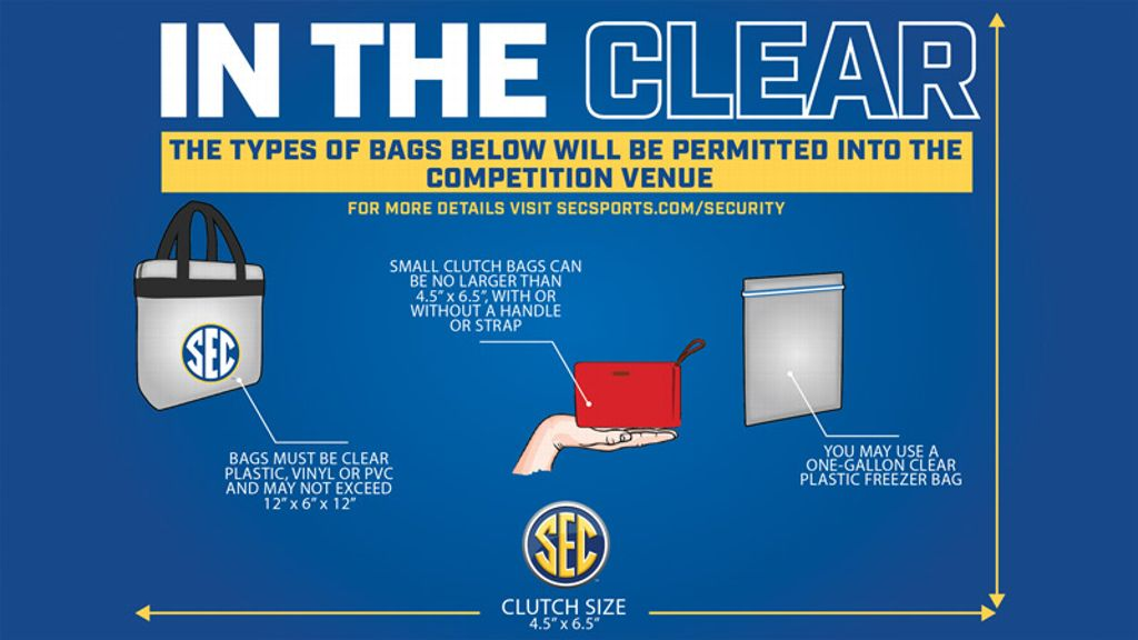 Clear bag policy in effect for SEC Gymnastics