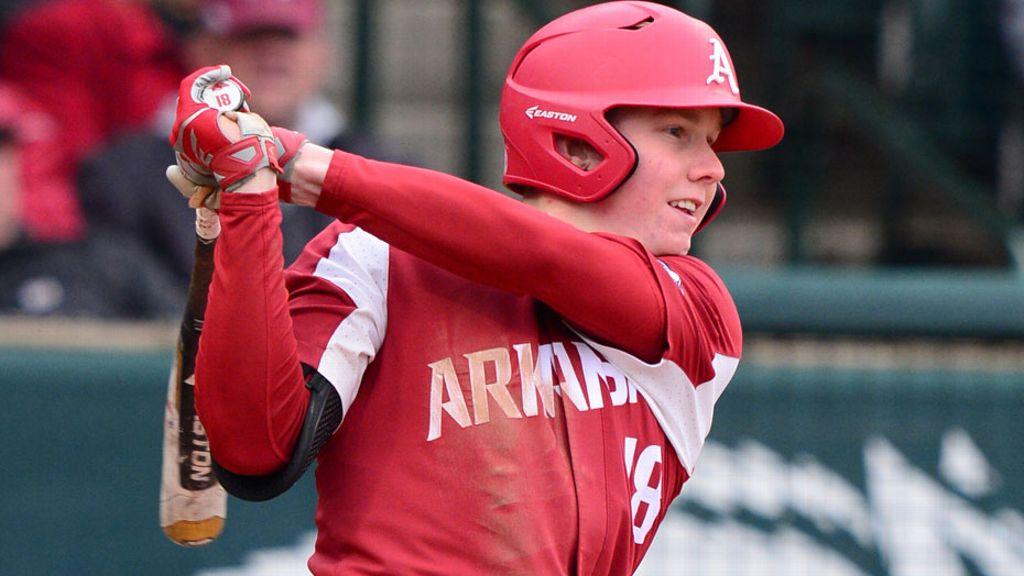 Kjerstad's homer helps Hogs win pitchers' duel