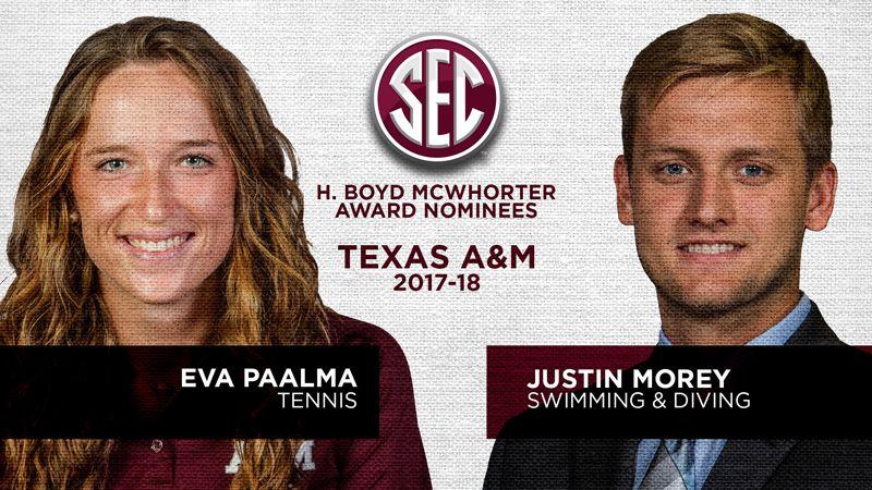 Texas A&M nominees for McWhorter Award announced