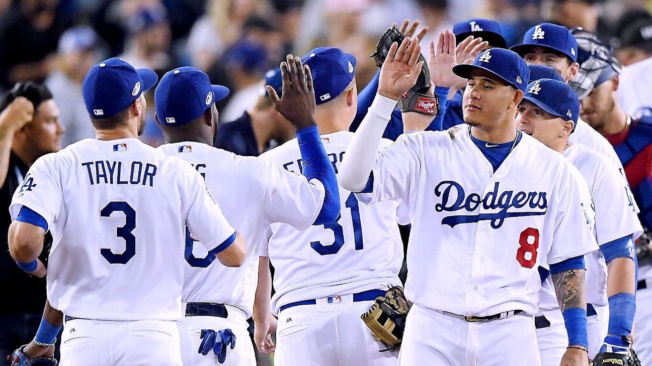 MLB - Los Angeles Dodgers mostrando a los Bravos cómo se ve el dominio de la postemporada