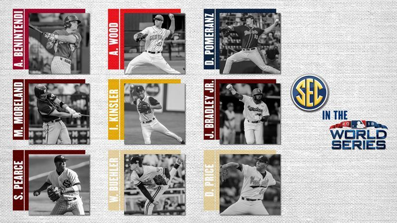 Nine from SEC schools on World Series rosters