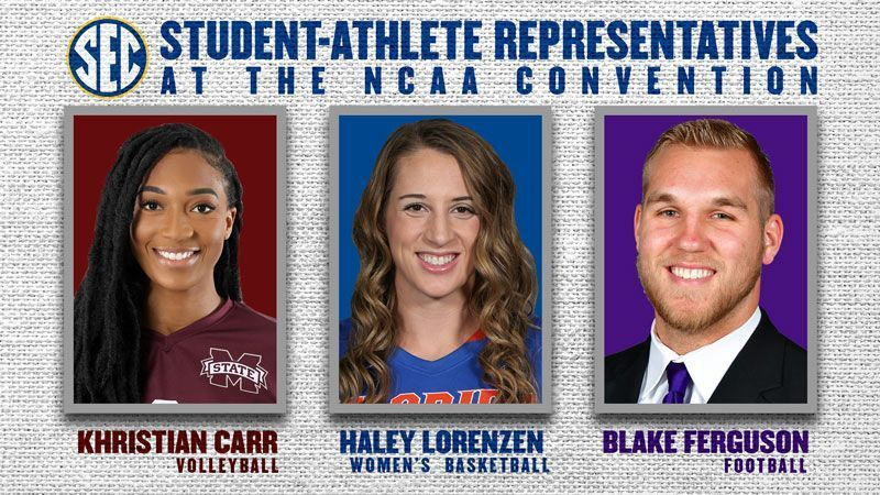 Student-Athletes to represent SEC at NCAA Convention