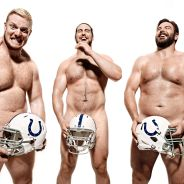 Jack Mewhort, Anthony Castonzo and Todd Herremans strike a pose
