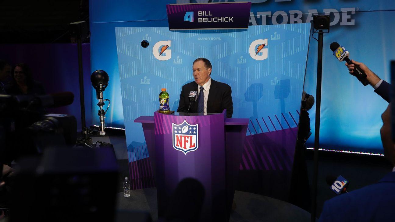 Bill Belichick, entrenador en jefe, New England Patriots