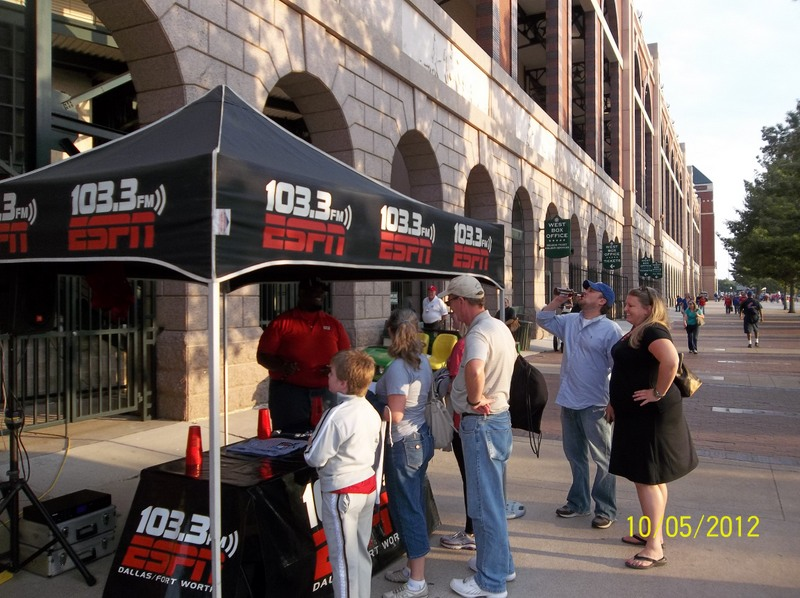 ESPN Street Team at Rangers Ballpark