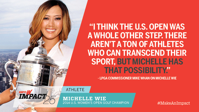 Michelle Wie, 25, 2014 U.S. Women's Open Golf Champion