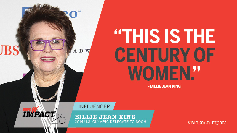 Billie Jean King, 71, 2014 U.S. Olympic Delegate To Sochi