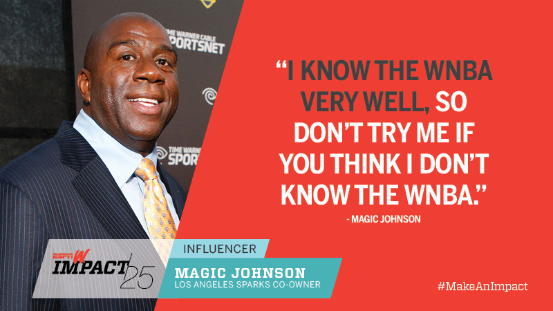 Magic Johnson, 55, Los Angeles Sparks Co-Owner