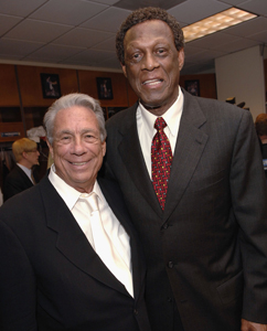 Sterling with former right-hand man Elgin Baylor in May 2006.
