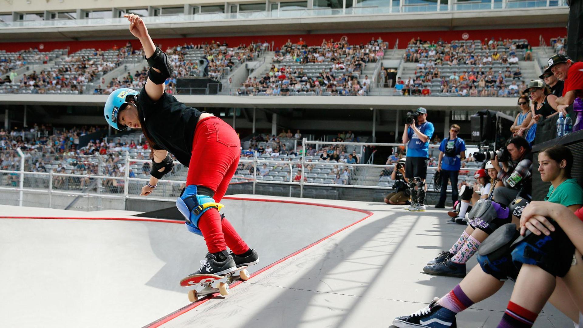 Roller skating x games - Kisa Nakamura Wins Women S Skateboard Park Gold