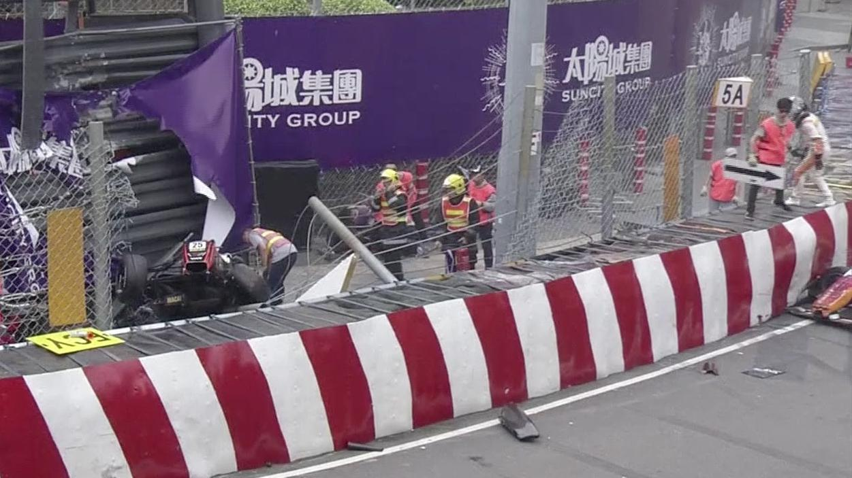 Horrifying crash at Macau Grand Prix as driver goes flying
