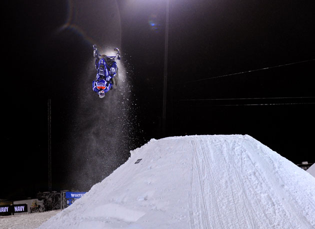 Dane Ferguson in the midst of the Twist Off that won Next Trick.