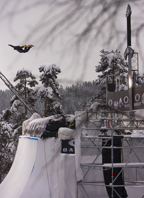 Terje once again took the highest air at TAC, coming in hot at 6.5 meters.