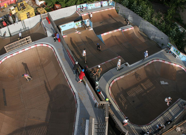 With 22,000 sq.ft dedicated to skating, they've got after riding sessions covered. And this is only the ramp/bowl section. The street section is just as big.