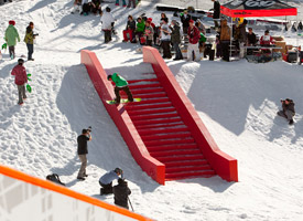 Quebec City's red ledge now has a home in western Canada, too.