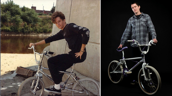 Before and after: Mike Daily in the mid '80s (left) and Mike Daily in 2010 (right).