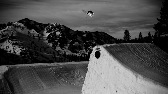 Parker White at Alpine Meadows, shooting with Level 1 Productions.